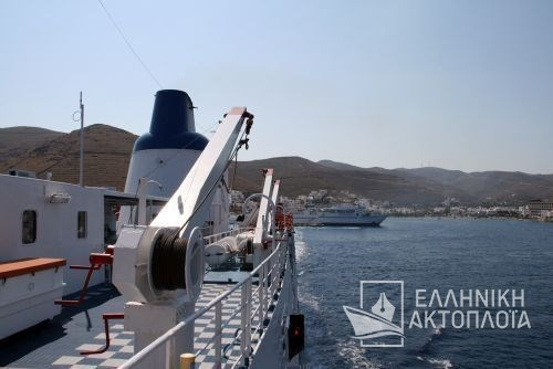 departure from the port of Kythnos
