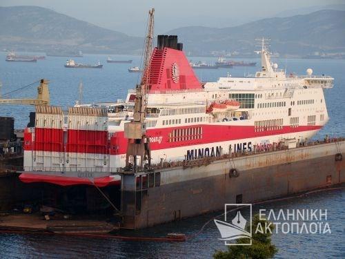 Cruise Smeralda (ex.Ikarus Palace) - Dry Docking