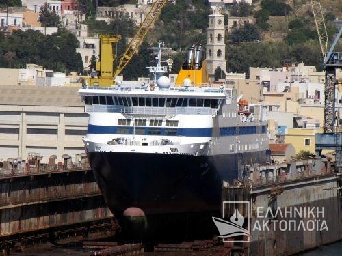 Blue Star Naxos - Dry Docking