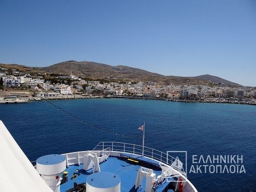 arrival in Tinos