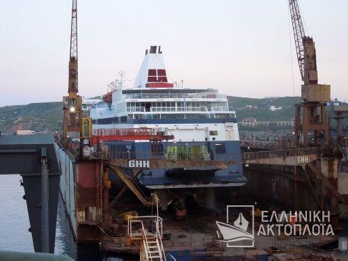 Blue Star Chios (ex.Nissos Chios) - Dry Docking