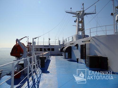 Nissos Rodos (ex. Hellenic Voyager) - Deck 10 - Open Deck