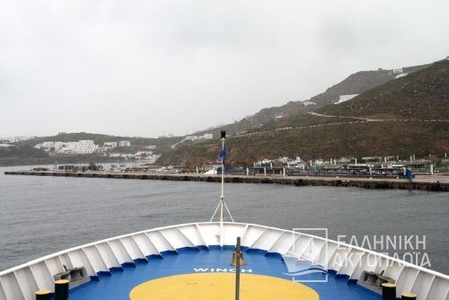 arrival at the port of Mykonos2