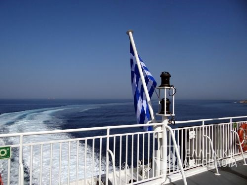 arrival at the port of Paros