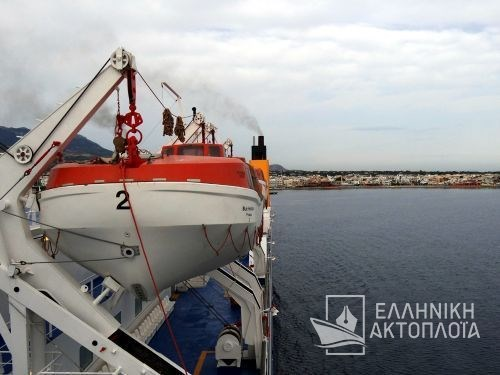 departure from the port of Kos