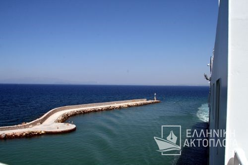 arrival at the port of Chios