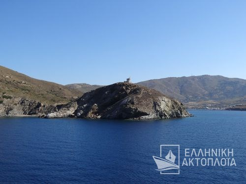 lighthouse of gavrio port (andros)