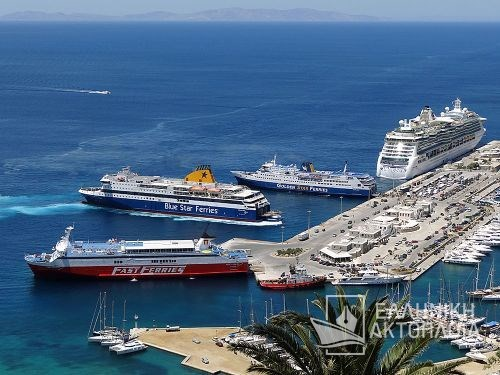 fast ferries andros-blue star patmos-superferry II-jewel of the seas