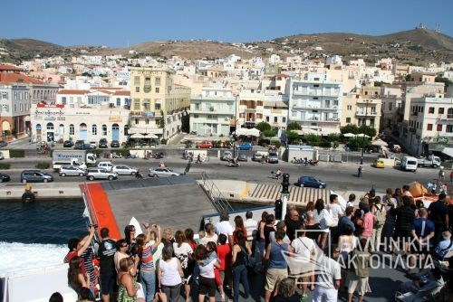 arrival in Syros