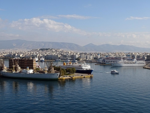 view from V.T.S. Piraeus