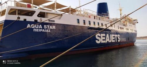 Aqua Star (ex. Azores Express, Aeolos, Moby Love) - Dry Docking