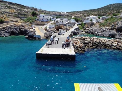 arrival at the port of Potamos (Antikythira)