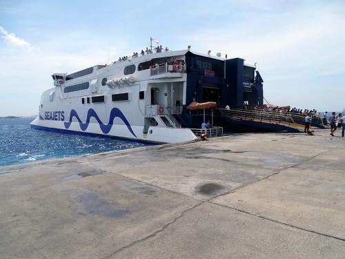 arrival in Mykonos