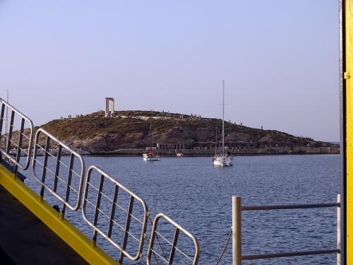 arrival in  Naxos