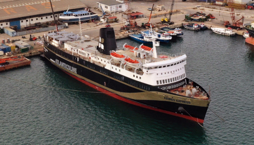 Azores Express (ex.Aeolos, Moby Love) - Dry Docking
