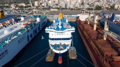 Blue Star Myconos (ex.Nissos Mykonos) - Dry Docking
