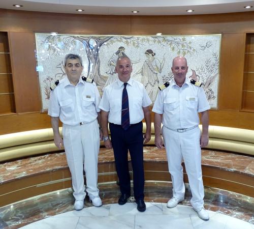 chief purser-central agent-chief steward