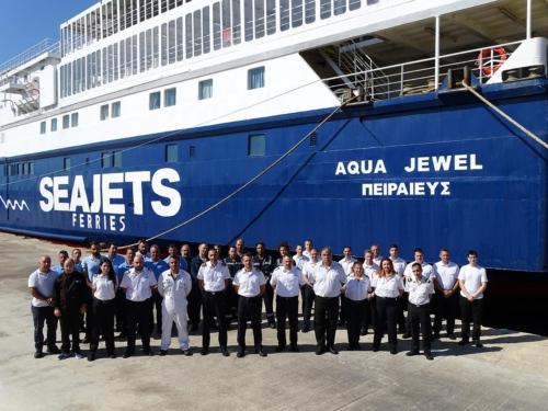 Aqua Jewel-Crew