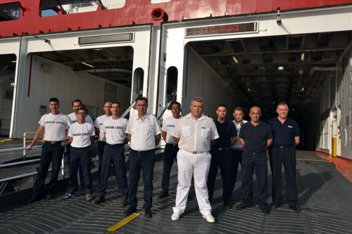 deck crew-boatswain-staff captain