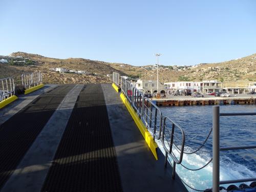 departure from Mykonos