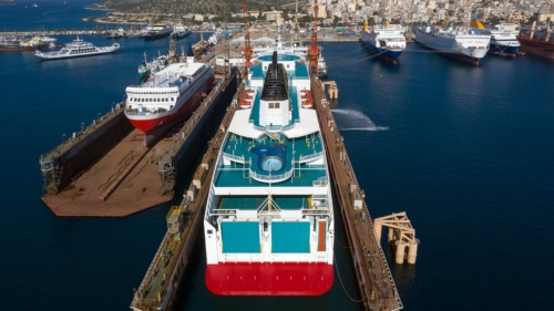 fast ferries andros-olympic champion-blue horizon-kriti I-blue star myconos