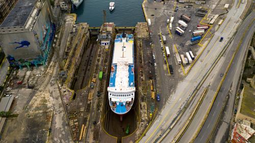 Fast Ferries Andros (ex. Eptanisos) - Dry Docking