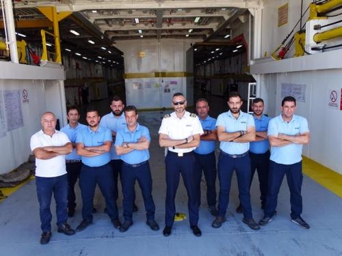 staff captain-boatswain-deck crew