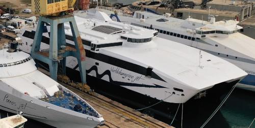 WorldChampion Jet (ex.Villum Clausen)- Dry Docking